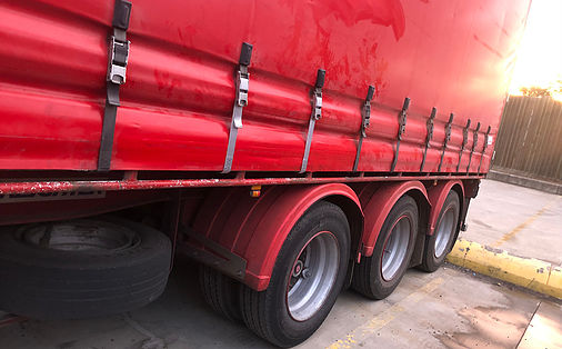red side truck curtains