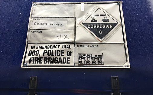 signage on truck curtain