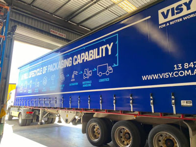visy screen printed truck curtains